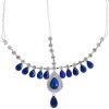 Head Jewellery Drop Blue Aurora Borealis